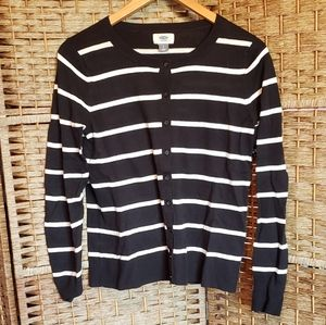 Old Navy Striped Cardigan Black and White